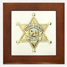 Orange County Sheriff Framed Tile