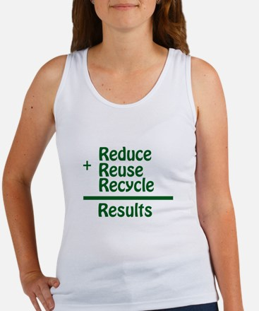 Reduce,Reuse,Recyle=Results Women's Tank Top