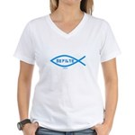 Gefilte Fish Jewish Women's V-Neck T-Shirt