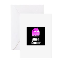 Alien Gamer Greeting Card