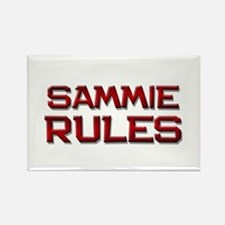 sammie rules Rectangle Magnet