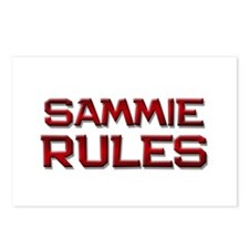 sammie rules Postcards (Package of 8)