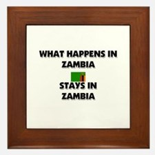 What Happens In ZAMBIA Stays There Framed Tile