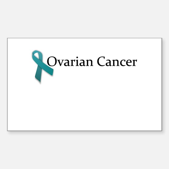 Ovarian Cancer Ribbon Rectangle Decal