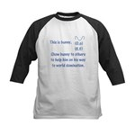 Show bunny to others Kids Baseball Jersey