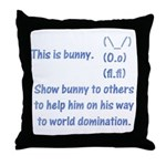 Show bunny to others Throw Pillow