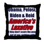 America's Laxative Throw Pillow