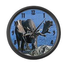 Bull in velvet Large Wall Clock