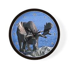 Bull in velvet Wall Clock