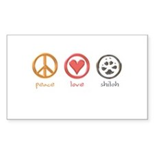 peace-love-shiloh Rectangle Sticker 10 pk)