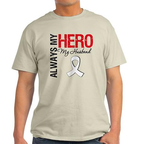 LungCancerHeroHusband Light T-Shirt