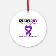 Alzheimer's MissMyMom Ornament (Round)