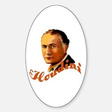 Harry Houdini Portrait Oval Decal