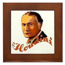 Harry Houdini Portrait Framed Tile