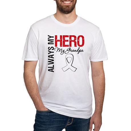 LungCancerHeroGrandpa Fitted T-Shirt