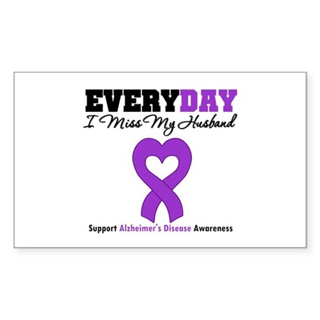 Alzheimer's MissMyHusband Rectangle Sticker