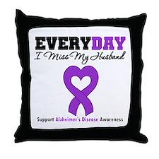 Alzheimer's MissMyHusband Throw Pillow