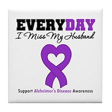 Alzheimer's MissMyHusband Tile Coaster