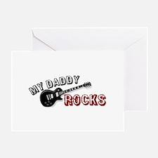 My Daddy Rocks Greeting Card