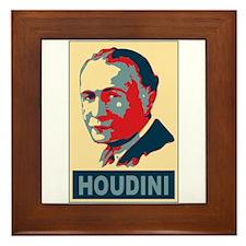 Harry Houdini Pop Art Framed Tile