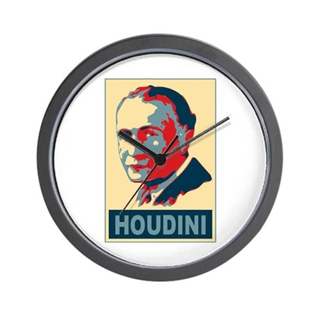 Harry Houdini Pop Art Wall Clock