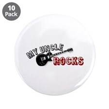 """My Uncle Rocks 3.5"""" Button (10 pack)"""