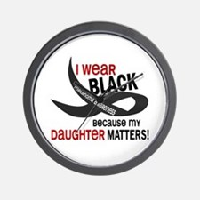 I Wear Black For My Daughter 33.2 Wall Clock