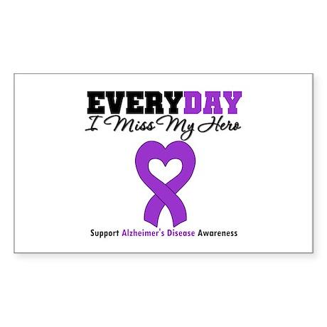 Alzheimer's MissMyHero Rectangle Sticker