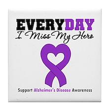Alzheimer's MissMyHero Tile Coaster