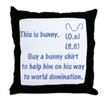 Help bunny for domination Throw Pillow