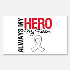 LungCancerHeroFather Rectangle Sticker 10 pk)