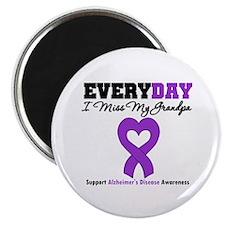 """Alzheimer's MissMyGrandpa 2.25"""" Magnet (10 pack)"""
