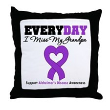 Alzheimer's MissMyGrandpa Throw Pillow