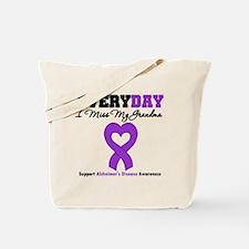 Alzheimer's MissMyGrandma Tote Bag