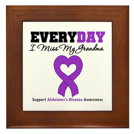 Alzheimer's MissMyGrandma Framed Tile
