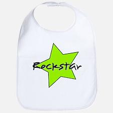 Rockstar with bold green star Bib