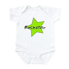 Rockstar with bold green star Onesie