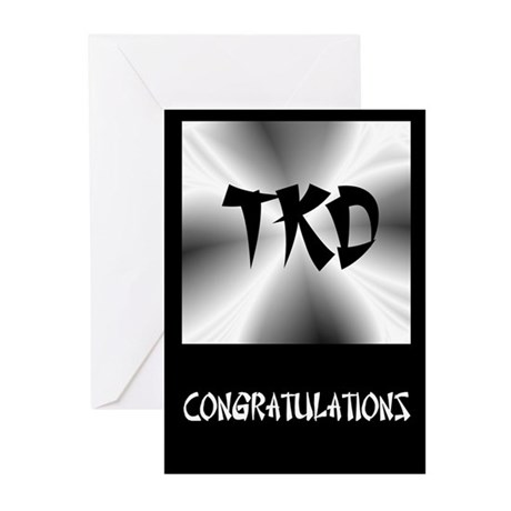 Faux Metallic Silver TKD Greeting Cards (Pk of 20)