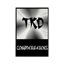 Faux Metallic Silver TKD Rectangle Magnet (100 pac