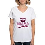 Drama Queen Women's V-Neck T-Shirt