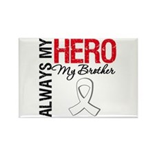 Lung Cancer Hero Brother Rectangle Magnet