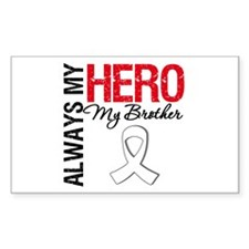 Lung Cancer Hero Brother Rectangle Decal