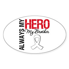 Lung Cancer Hero Brother Oval Decal