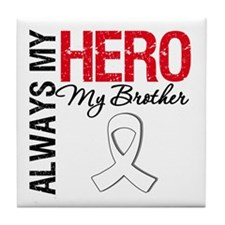 Lung Cancer Hero Brother Tile Coaster