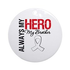 Lung Cancer Hero Brother Ornament (Round)