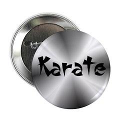 "Karate Silver Fractal 2.25"" Button (100 pack)"