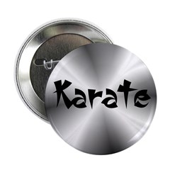 "Karate Silver Fractal 2.25"" Button (100 pack)"