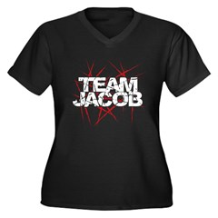Team Jacob Women's Plus Size V-Neck Dark T-Shirt