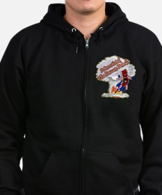 Survived Bacon Bomb Zip Hoodie
