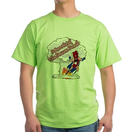 Survived Bacon Bomb Green T-Shirt